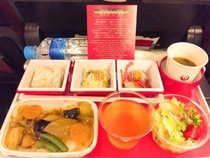 JAL-meal1 (c)Megumi Mitani