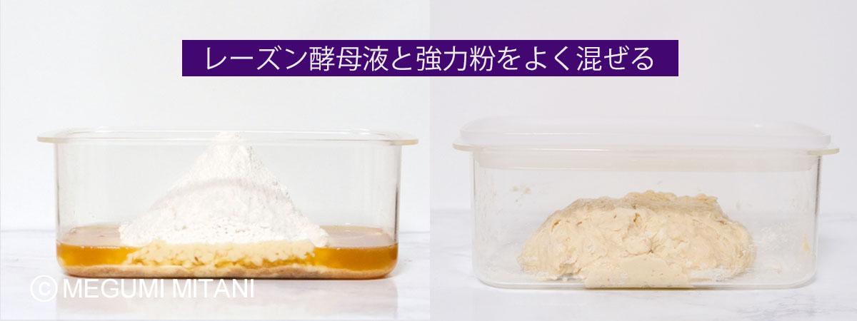 レーズン酵母元種作り方(c)Megumi Mitani